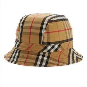 Burberry beige Vintage Check Bucket Hat-Unisex